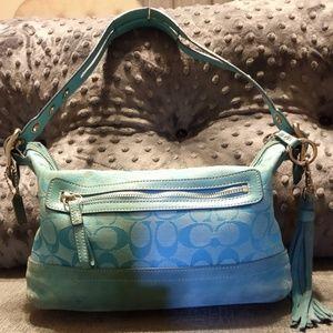 Coach Turquoise Handbag purse